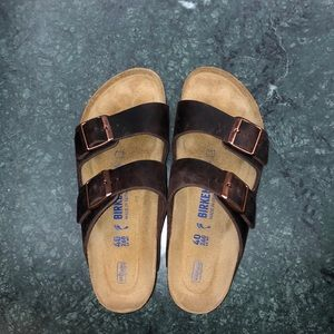 Dark brown Birkenstocks, BRAND NEW